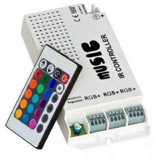 Sound Sensitive IR LED RGB Strip Controller